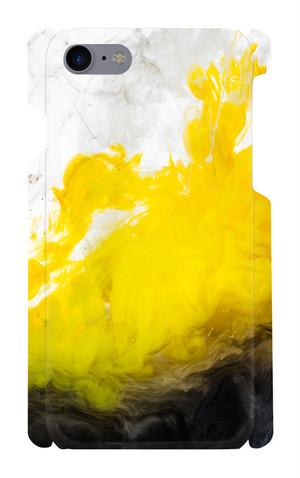 iPhone7/8 ケース 印刷ケース 黄色アートケース ブラック イエロー iphone画像印刷 メンズ おしゃれ 個性的