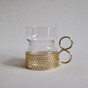 Iittala イッタラ / Tsaikka ツァイッカ ホルダー付グラス 24Karaatti ゴールド