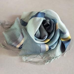 草木染め手織り生絹(すずし)ストール◆滝◆