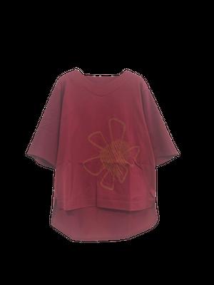 【最新作】オールドフラワーモチーフ Tシャツ【213-3216】