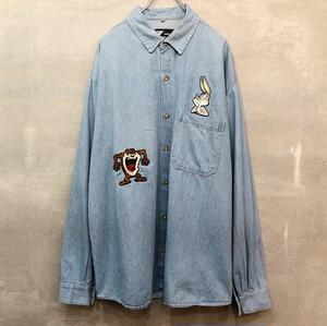 ルーニー・テューンズ デニム刺繍 長袖シャツ  #940