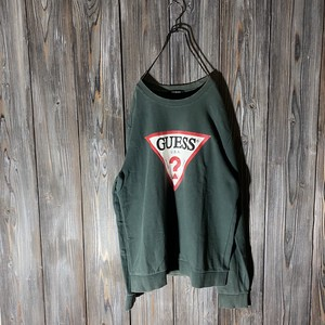 [GUESS]vintage dark green sweat