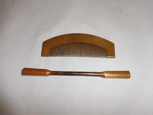 蒔絵の櫛と笄 Urushi lacquer work ornamental comb and hair pin(No16))