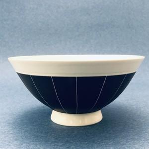 砥部焼/線彫茶碗(大)/一夢工房