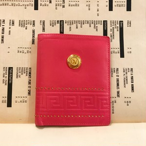 GIANNE VERSACE pink leather wallet