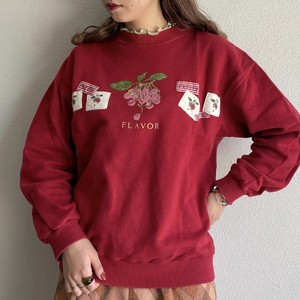 (LOOK) patchwork design sweat