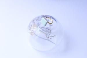 319-r 伝統文化品美濃焼多治見四角タイル指輪・リング(フリーサイズ) ※証明書付 345