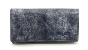 RE.ACT Bridle Leather Long Wallet Navy