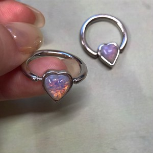 pink opal BEADS RING #LA19010R ピンクオパール ビーズリング