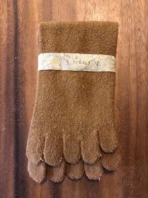 薬草染め絹5本指靴下 たまねぎ