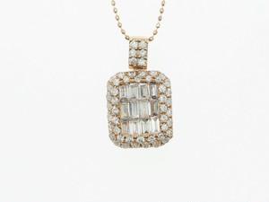 【K18PG】1.200ct UP ダイヤモンドネックレス