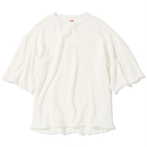 "16SS-0047 ""WIDE SLEEVE HARF SWEAT"" - WHITE"