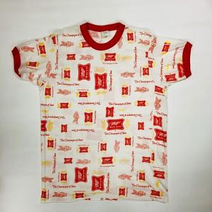 ミラービール リンガー Tシャツ Miller BEER REPLICA T-Shirts(M) アウトドアシーンにも