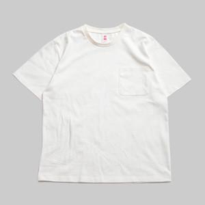 CC BASIC HEART POCKET T-SHIRT-WHITE