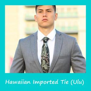 【限定2本!】ハワイのメーカー直輸入!ハワイアン シルク ネクタイ(ウル:パンノキ)