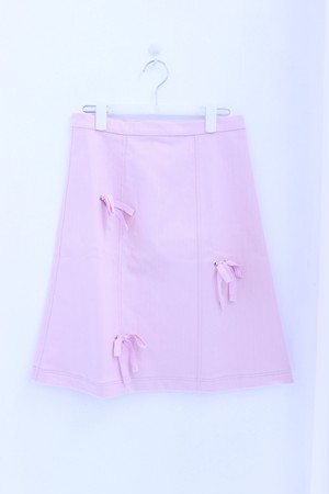 ⭐︎30% OFF⭐︎【Somewhere Nowhere】BABY PINK SLUB DENIM A-LINE SKIRT