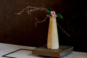 村上躍 砂化粧花器