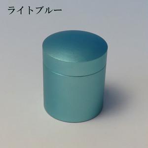 ミニ骨壷With(ウィズ)T 直径25mm×高30mm ライトブルー【日本製】