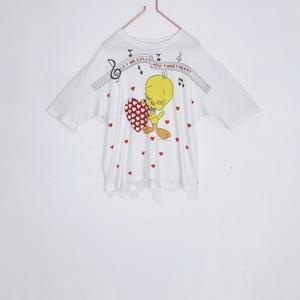 ◼︎'86 vintage Tweety Bird singing heart T-shirts from U.S.A.◼︎