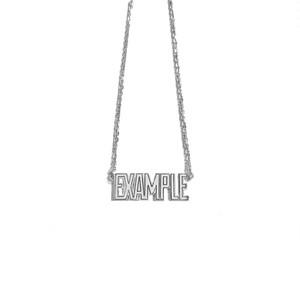 【限定受注販売】 EXAMPLE x GARNI EXAMPLE LOGO PENDANT SILVER TOP(SMALL)
