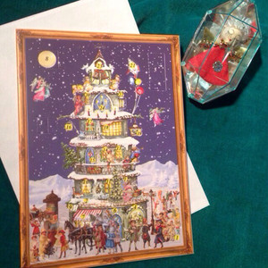 ドイツ アドヴェントカレンダーカード クリスマスの塔