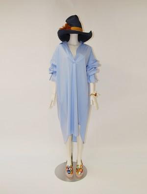 コットンストレッチシャツドレス AT-BL10
