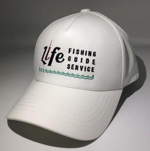 LIFE FISHING GUIDE SERVICE ORIGINAL CAP サイズ:FREE(SnapBack)カラー:ホワイト