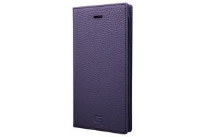 GRAMAS Shrunken-calf Full Leather Case for iPhone 7(Purple) シュランケンカーフ 手帳型フルレザーケース GLC646PR