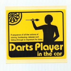 ステッカー(Darts player in the car)