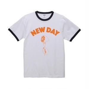 NEW DAY リンガーシャツ -オレンジシャーベット-