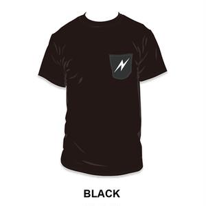 NEON 胸ポケットTEE【BLACK】