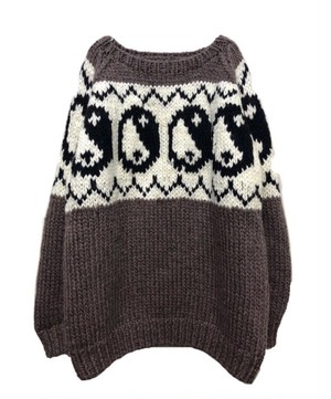 blackweirdos / Yin yang - hand made knit