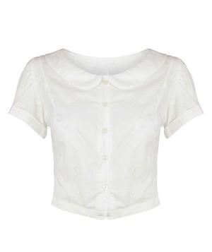 WEEKEND 白糸刺繍ブラウス