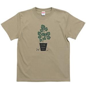 CORIANDER パクチー Tシャツ(サンドカーキ)