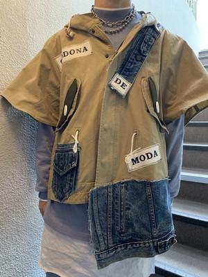 【MAID IN CODONA】ポンチョスリーブミリタリージャケット