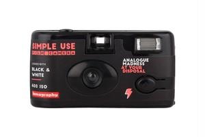 【レンズ付きフィルム 35mm】Lomography(ロモグラフィー) SIMPLE USE FILM CAMERA Black and White 36枚撮り
