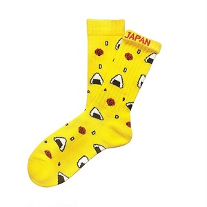 """ONIGIRI -yellow-"" Socks"
