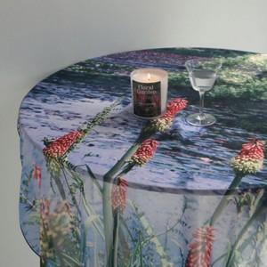 secret garden chiffon fabric poster / シークレットガーデン シフォン ファブリックポスター 花 庭 韓国雑貨