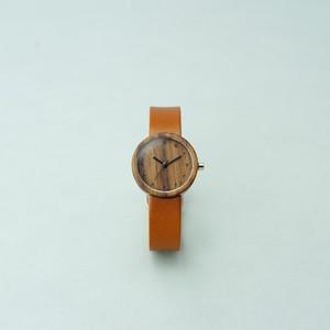 Walnut wood - Organic leather Honey - S