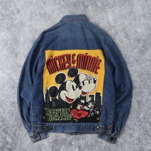 """90年代 """" Mickey Mouse """" ミッキーマウス デニムジャケット M 古着 A33"""