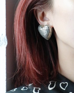 dead stock silver tone ♡ earrings