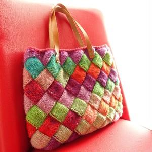 バスケット編みのワンマイルバッグ(ステンドグラス)