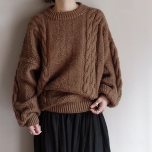 Fisherman Sweater / 後染め フィッシャーマ セーター / ケーブル編み ニット