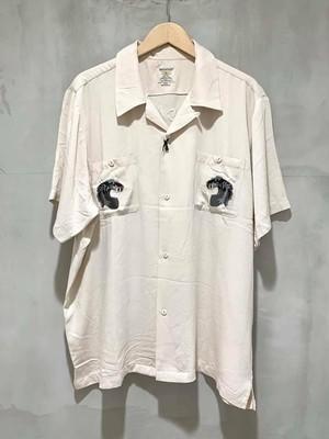 HOUSTON - 刺繍スーベニアシャツ - OFF WHITE/TIGER