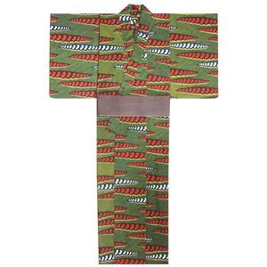 アフリカ布の浴衣9 男物L 豆紋 / African Yukata 9 for Men Size L