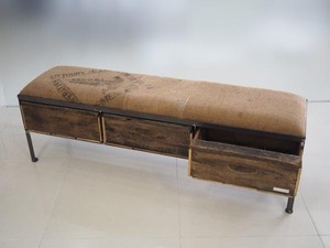 品番UCP3-104  3drawer ottoman[nerrow/ coffee bag]