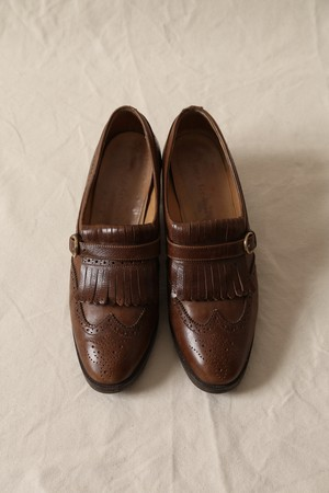 Luca Grossi Monk Strap Wing Tip Shoes