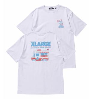 【XLARGE】S/S TEE XLARGE × 123KLAN ICE CREAM TRUCK   123KLAN(ワン・トゥー・スリー・クラン)コラボ商品 半袖Tシャツ【エクストララージ】
