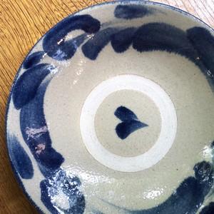 【北窯 松田共司】8寸皿 藍唐草