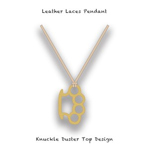 Leather Laces Pendant / Knuckle Duster Top Design